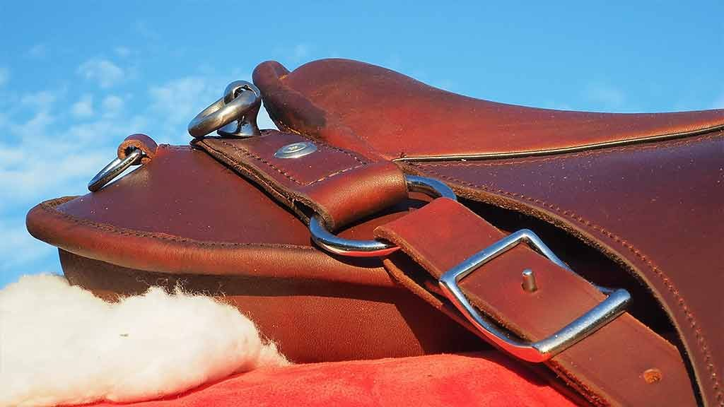 Stainless steel trail riding saddle
