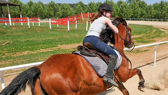 Riding advanced rider gallop
