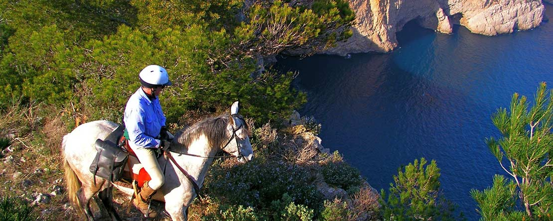 Horse riding at wild coast