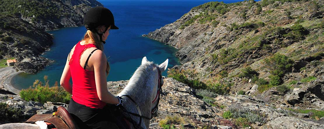 Trail riding Spanish wild coast