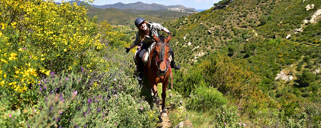 Enjoy trail ride Catalonia