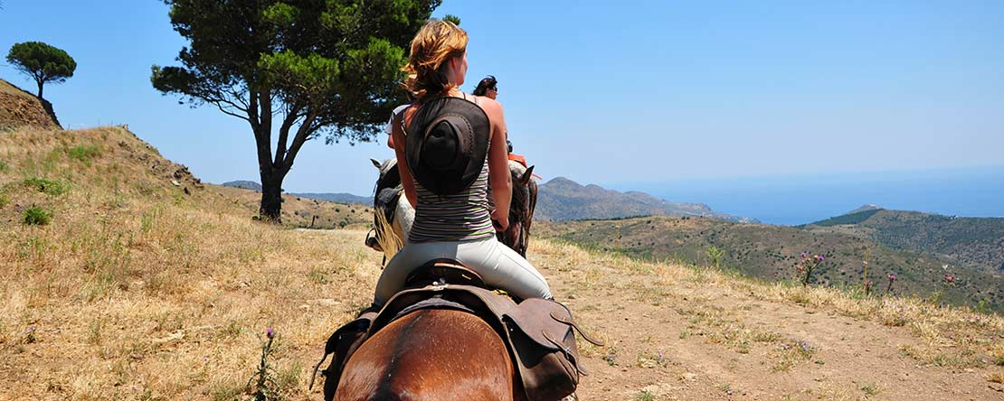 Enjoy stunning panorama horse riding Costa Brava