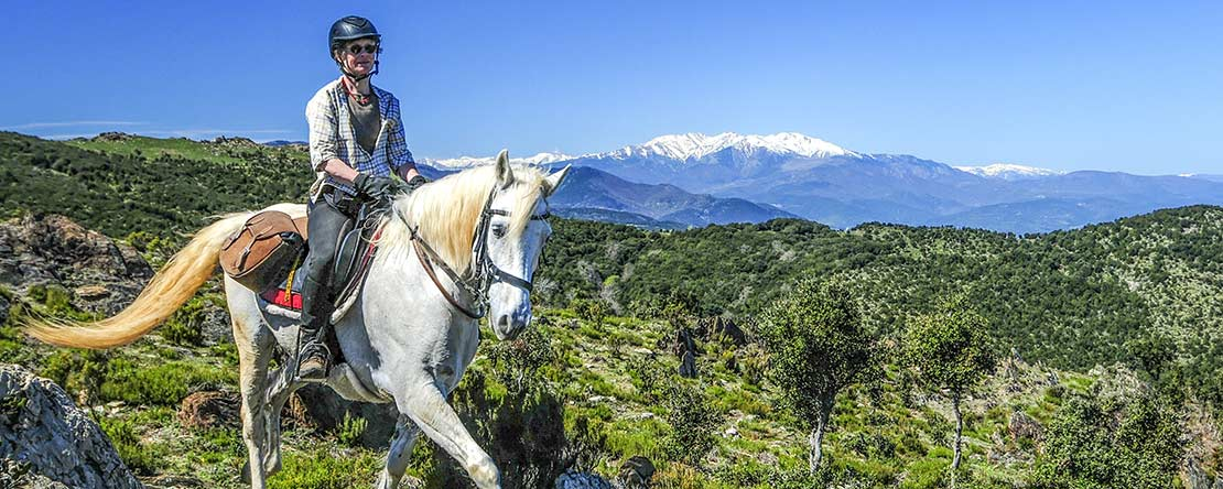 Trail rides between sunshine snow Catalonia