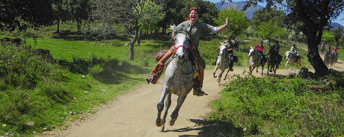 Canter horse riding holiday Spain