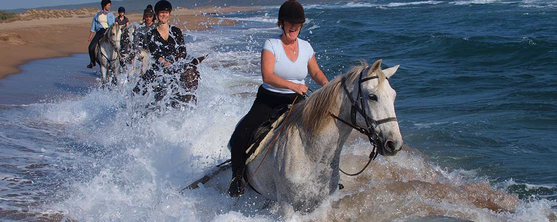 Mediterranean Sea on horseback