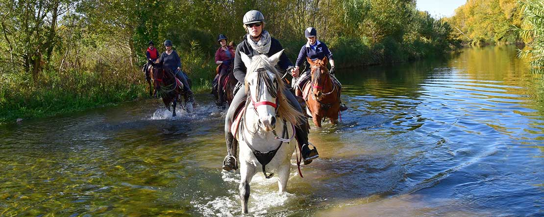 Spanish river on horseback