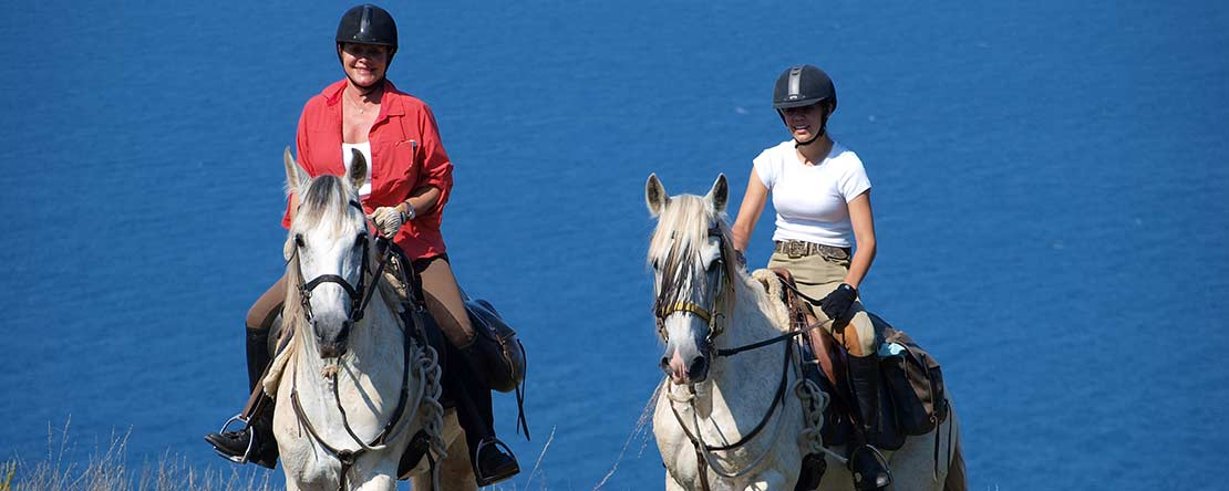 Horse riding Mediterranean coast