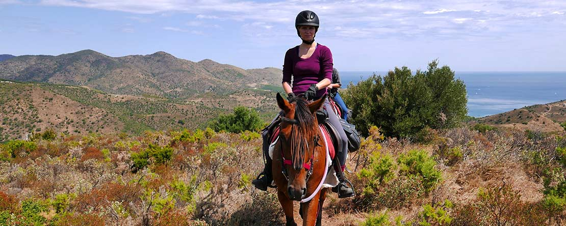 Trail ride unspoilt landscape Catalonia