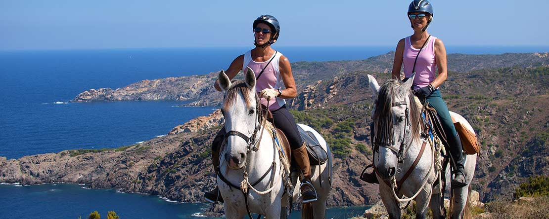 Horse riding wild coast Costa Brava