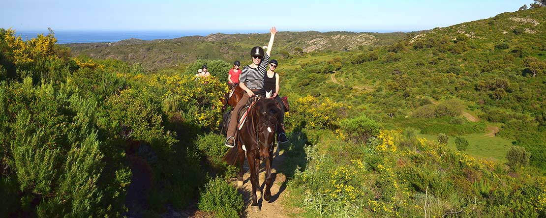 Great views horse riding Catalonia