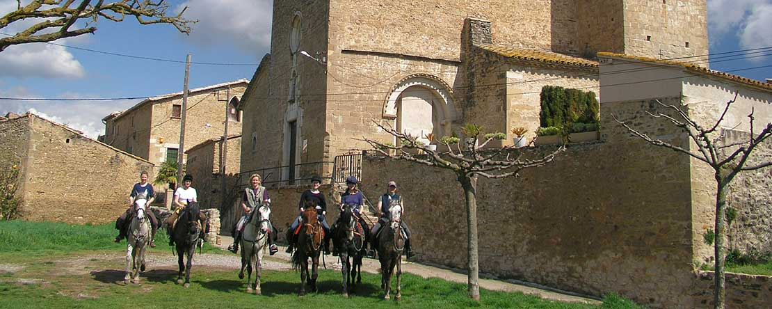 Trail ride Catalonian Medieval past