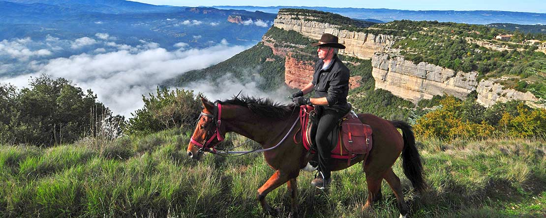 Great views on horseback Catalonia