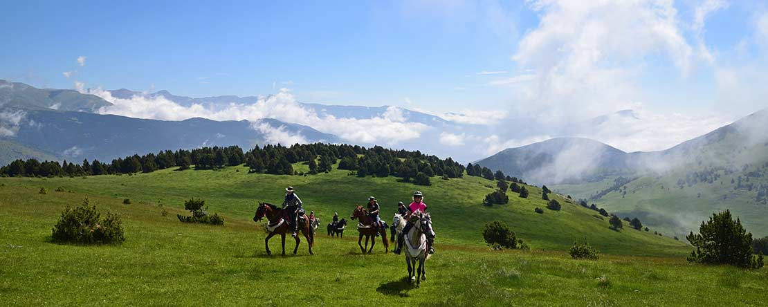 Vast Catalonian landscape on horseback