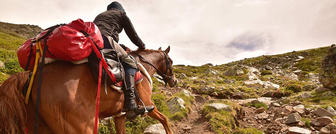 Rock climbing on horseback Catalonia