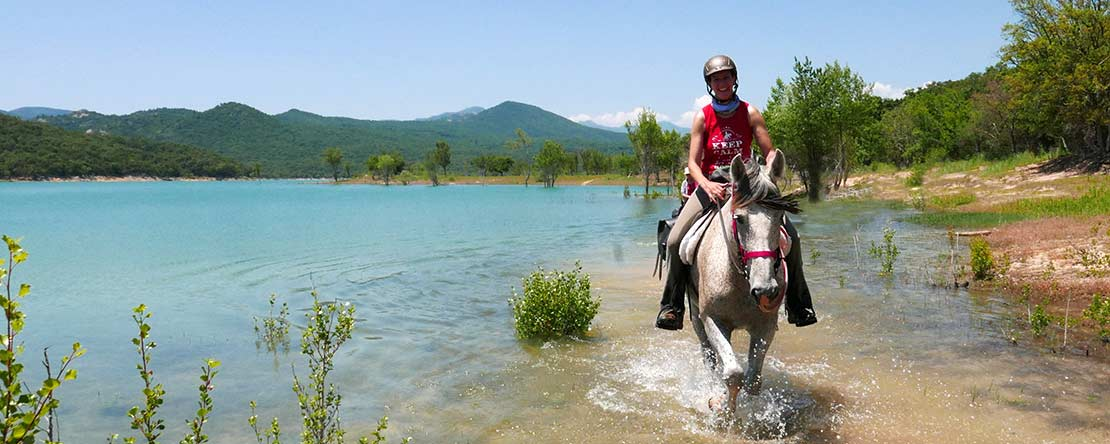 Trail ride lake Spain