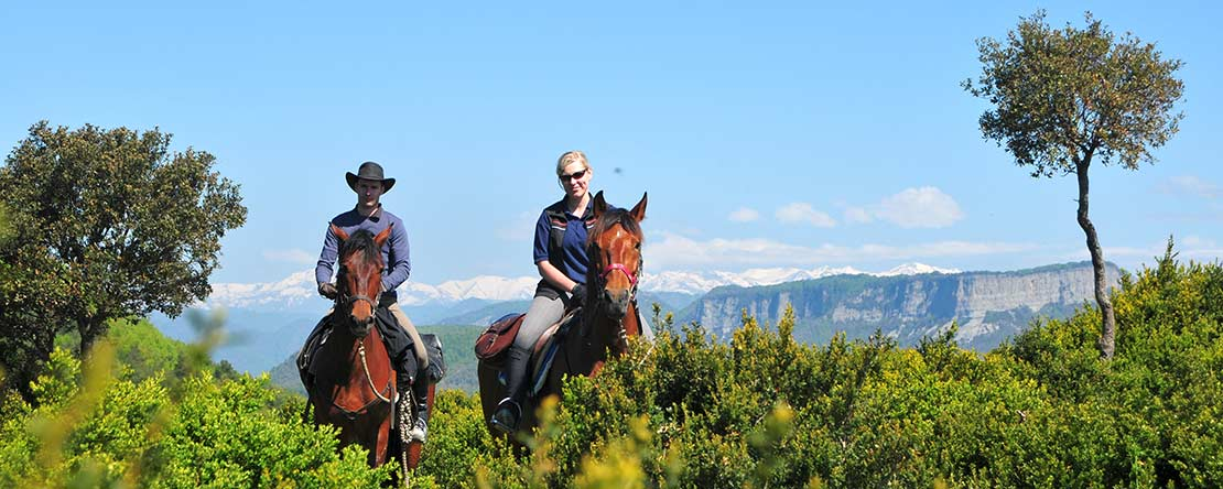 Unforgettable horse ride adventure stunning view